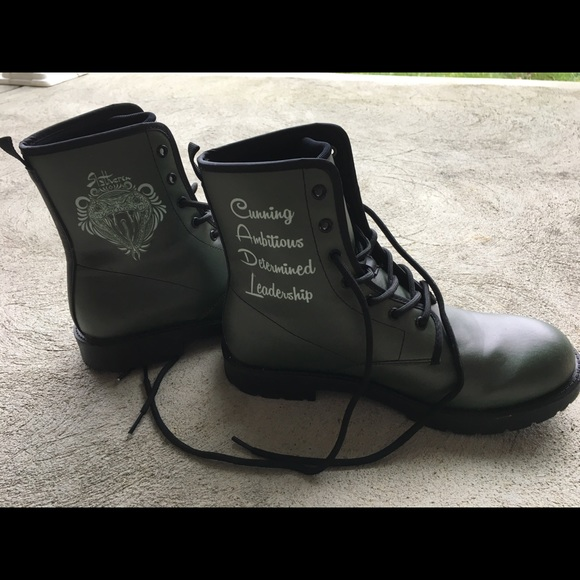 Shoes | Slytherin Combat Boots | Poshmark